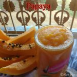Healthy fruit juice using mangoes and papaya fruit
